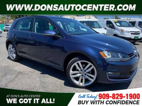 2016 Volkswagen Golf for sale at Dons Auto Center in Fontana CA
