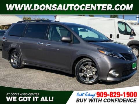 2015 Toyota Sienna for sale at Dons Auto Center in Fontana CA