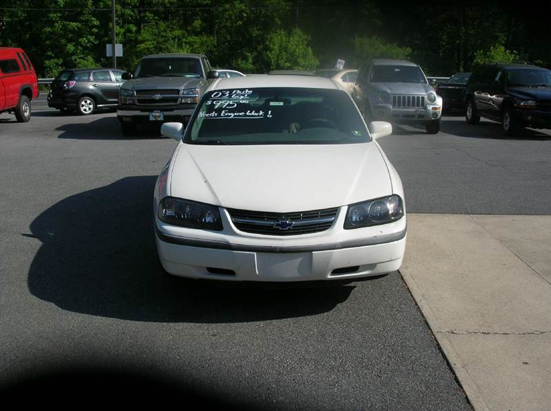 2003 Chevrolet Impala for sale at Lee Miller Used Cars & Trucks inc. in Germansville PA