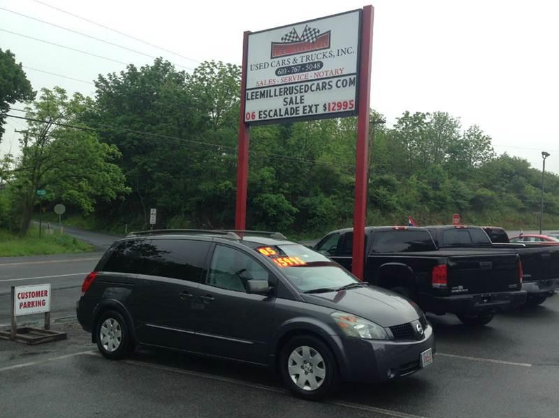 2005 Nissan Quest for sale at Lee Miller Used Cars & Trucks Inc. in Germansville PA