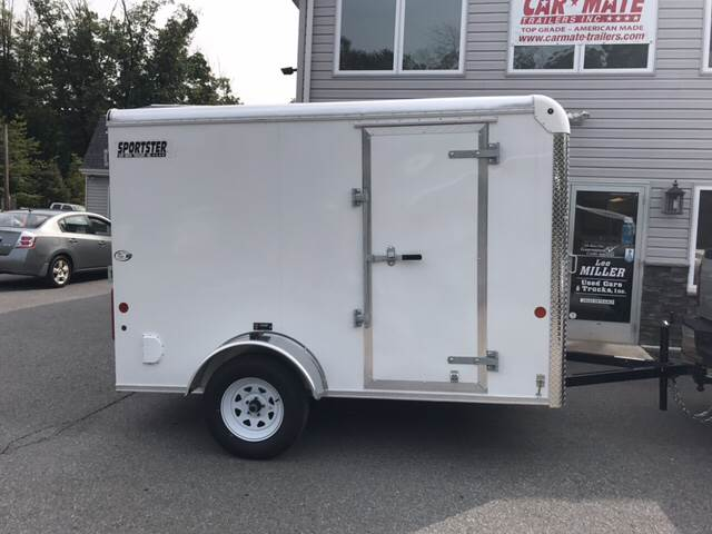 2018 Car Mate  Sportster cargo 6 x 10 for sale at Lee Miller Used Cars & Trucks Inc. in Germansville PA