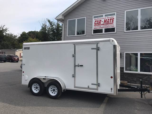 2018 Car Mate Sportster cargo 7 x 14 HD for sale at Lee Miller Used Cars & Trucks Inc. in Germansville PA