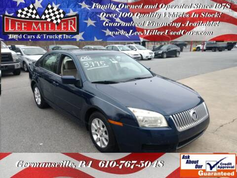 2006 Mercury Milan I-4 for sale at Lee Miller Used Cars & Trucks Inc. in Germansville PA