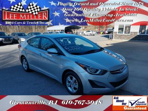 2014 Hyundai Elantra SE for sale at Lee Miller Used Cars & Trucks Inc. in Germansville PA