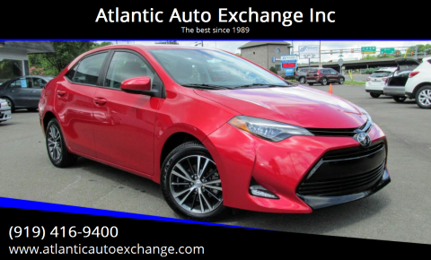 2018 Toyota Corolla for sale at Atlantic Auto Exchange Inc in Durham NC