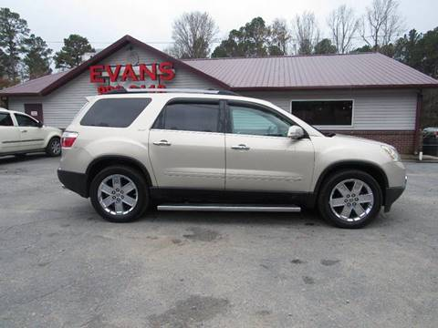 2010 GMC Acadia for sale at Evans Motors Inc in Little Rock AR