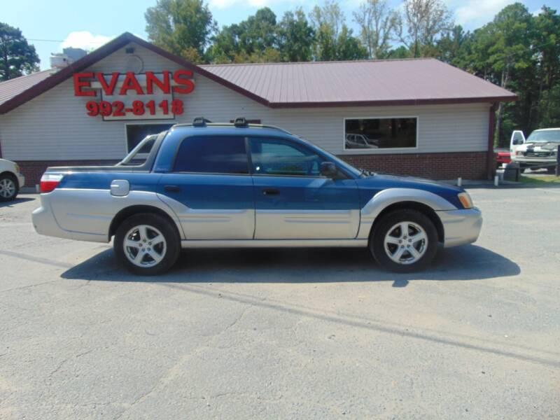 2006 Subaru Baja for sale at Evans Motors Inc in Little Rock AR