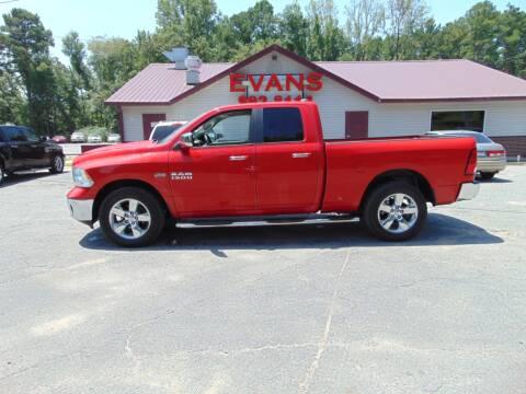 2014 RAM Ram Pickup 1500 for sale at Evans Motors Inc in Little Rock AR