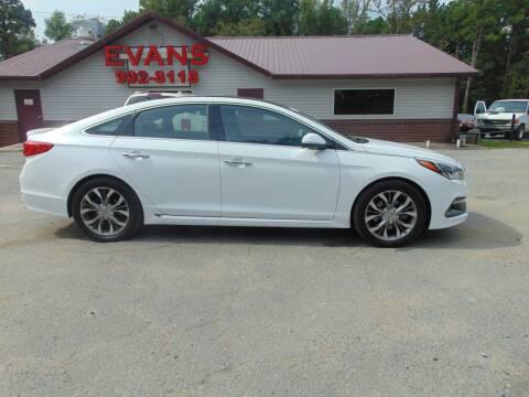 2015 Hyundai Sonata for sale at Evans Motors Inc in Little Rock AR
