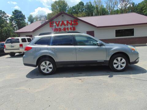 2011 Subaru Outback for sale at Evans Motors Inc in Little Rock AR