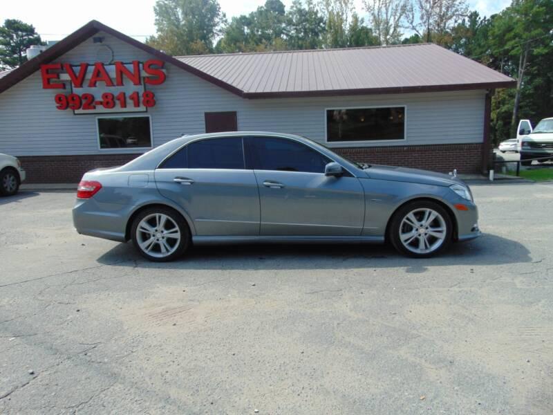 2012 Mercedes-Benz E-Class for sale at Evans Motors Inc in Little Rock AR