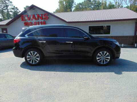 2014 Acura MDX for sale at Evans Motors Inc in Little Rock AR