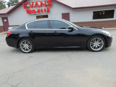 2007 Infiniti G35 for sale at Evans Motors Inc in Little Rock AR