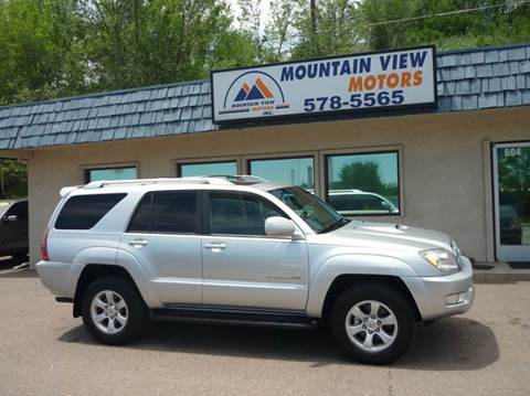 2004 Toyota 4Runner for sale at Mountain View Motors Inc in Colorado Springs CO