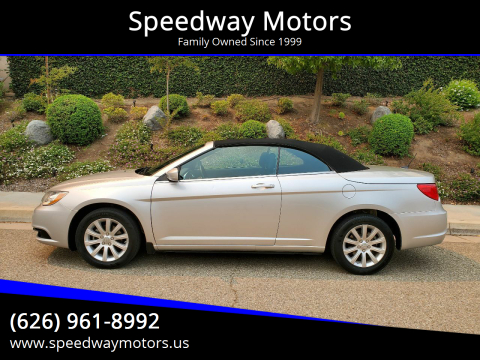 2012 Chrysler 200 Convertible for sale at Speedway Motors in Glendora CA