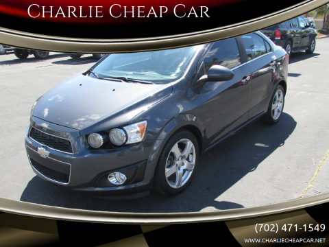 2013 Chevrolet Sonic for sale at Charlie Cheap Car in Las Vegas NV