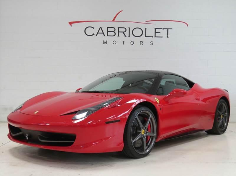2012 Ferrari 458 Italia for sale at Cabriolet Motors in Morrisville NC