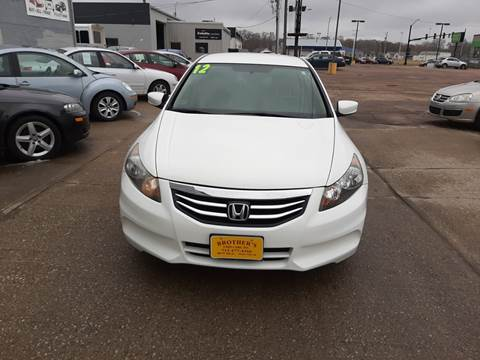 2012 Honda Accord SE for sale at Brothers Used Cars Inc in Sioux City IA