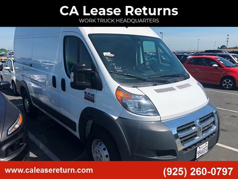 2017 RAM ProMaster Cargo for sale at CA Lease Returns in Livermore CA