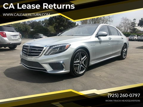 2015 Mercedes-Benz S-Class for sale at CA Lease Returns in Livermore CA