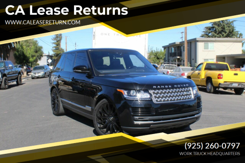 2017 Land Rover Range Rover for sale at CA Lease Returns in Livermore CA