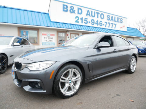 2016 BMW 4 Series for sale at B & D Auto Sales Inc. in Fairless Hills PA