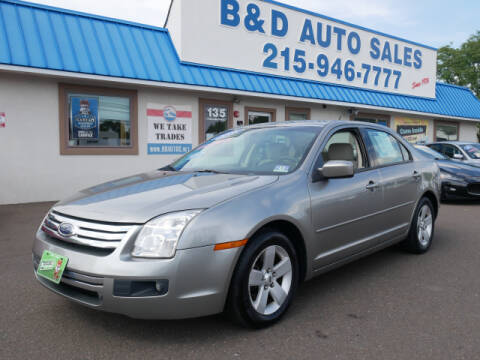 2008 Ford Fusion for sale at B & D Auto Sales Inc. in Fairless Hills PA