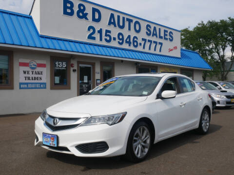 2016 Acura ILX for sale at B & D Auto Sales Inc. in Fairless Hills PA