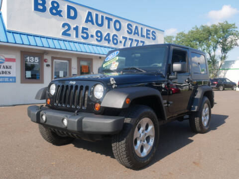 2011 Jeep Wrangler for sale at B & D Auto Sales Inc. in Fairless Hills PA
