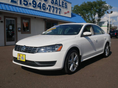 2014 Volkswagen Passat for sale at B & D Auto Sales Inc. in Fairless Hills PA