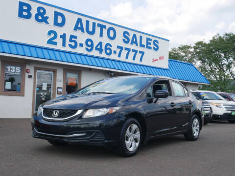 2014 Honda Civic for sale at B & D Auto Sales Inc. in Fairless Hills PA