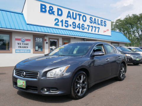 2012 Nissan Maxima for sale at B & D Auto Sales Inc. in Fairless Hills PA