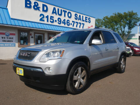2010 GMC Acadia for sale at B & D Auto Sales Inc. in Fairless Hills PA