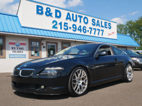 2004 BMW 6 Series for sale at B & D Auto Sales Inc. in Fairless Hills PA