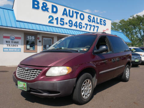 2002 Chrysler Voyager for sale at B & D Auto Sales Inc. in Fairless Hills PA