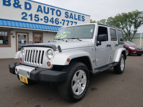 2012 Jeep Wrangler Unlimited for sale at B & D Auto Sales Inc. in Fairless Hills PA