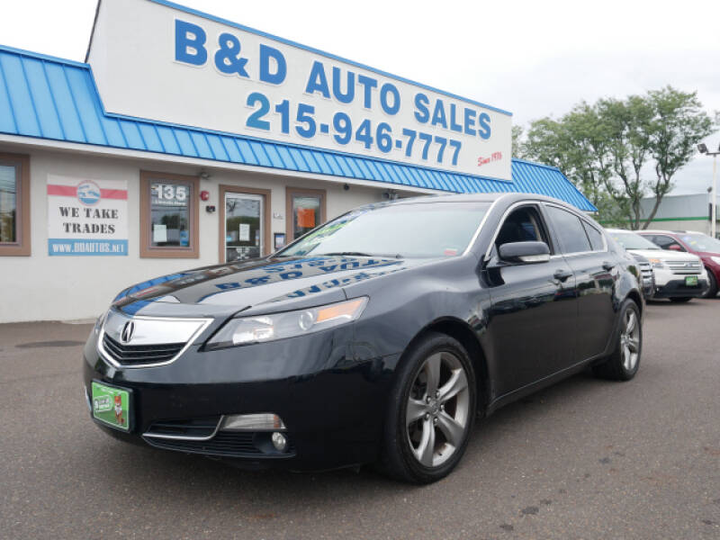 2014 Acura TL for sale at B & D Auto Sales Inc. in Fairless Hills PA