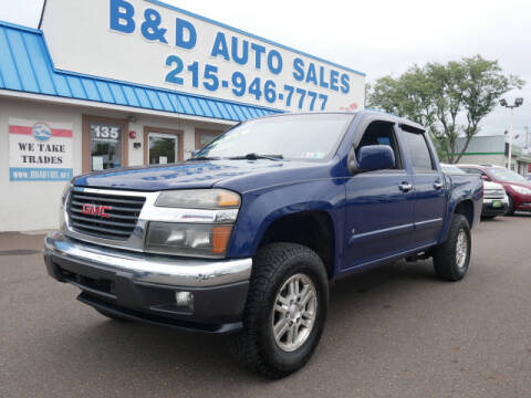 2009 GMC Canyon for sale at B & D Auto Sales Inc. in Fairless Hills PA