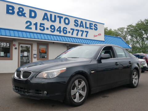 2007 BMW 5 Series for sale at B & D Auto Sales Inc. in Fairless Hills PA