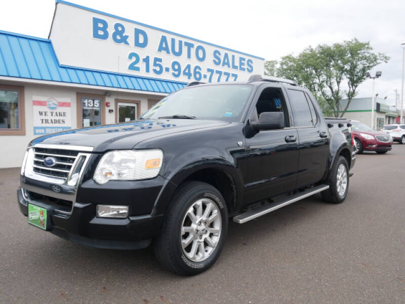 2007 Ford Explorer Sport Trac for sale at B & D Auto Sales Inc. in Fairless Hills PA