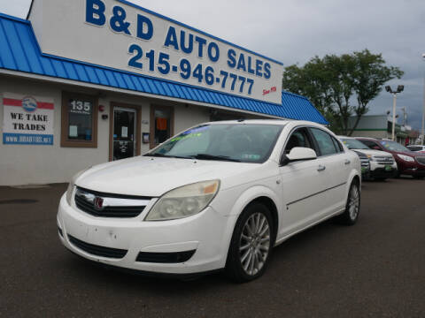2007 Saturn Aura for sale at B & D Auto Sales Inc. in Fairless Hills PA
