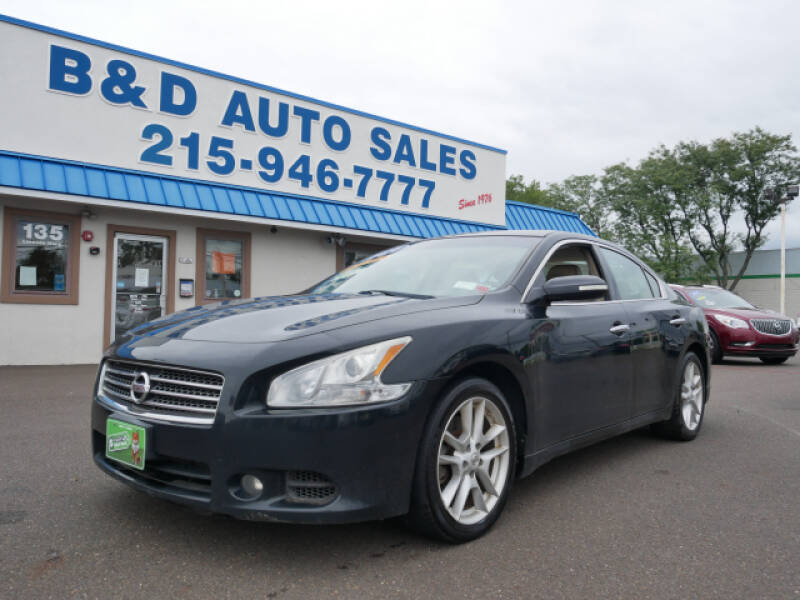 2011 Nissan Maxima for sale at B & D Auto Sales Inc. in Fairless Hills PA