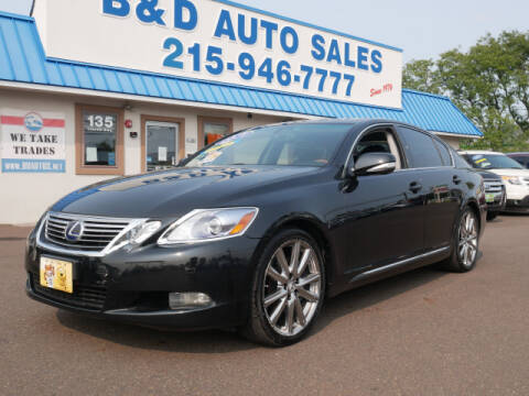 2011 Lexus GS 450h for sale at B & D Auto Sales Inc. in Fairless Hills PA