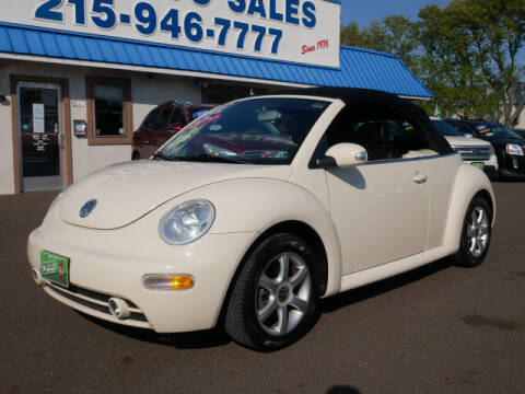 2004 Volkswagen New Beetle Convertible for sale at B & D Auto Sales Inc. in Fairless Hills PA