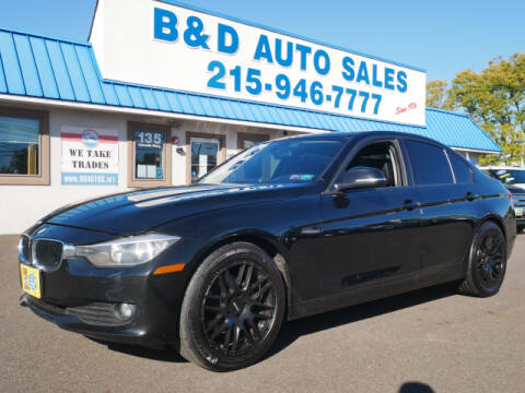 2013 BMW 3 Series for sale at B & D Auto Sales Inc. in Fairless Hills PA
