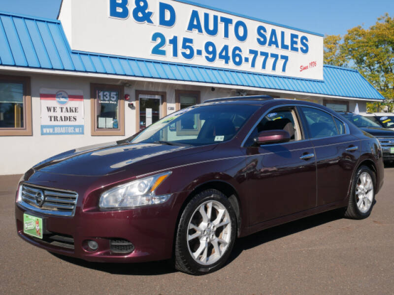 2014 Nissan Maxima for sale at B & D Auto Sales Inc. in Fairless Hills PA