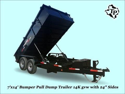 2017 TEXAS PRIDE 7'X14'X2' DUMP BP 14K GVWR