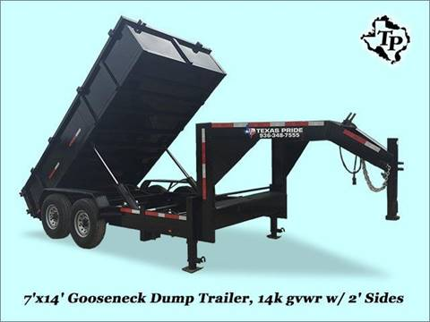 2017 TEXAS PRIDE 7'X14'X2' DUMP GN 14K GVWR