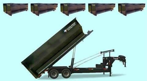 2016 TEXAS PRIDE Dual Tandem Roll Off Dump