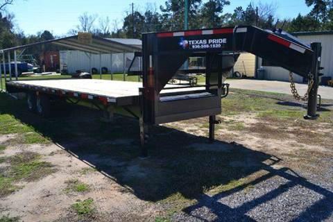 2016 TEXAS PRIDE 25' Flat Deck Gooseneck